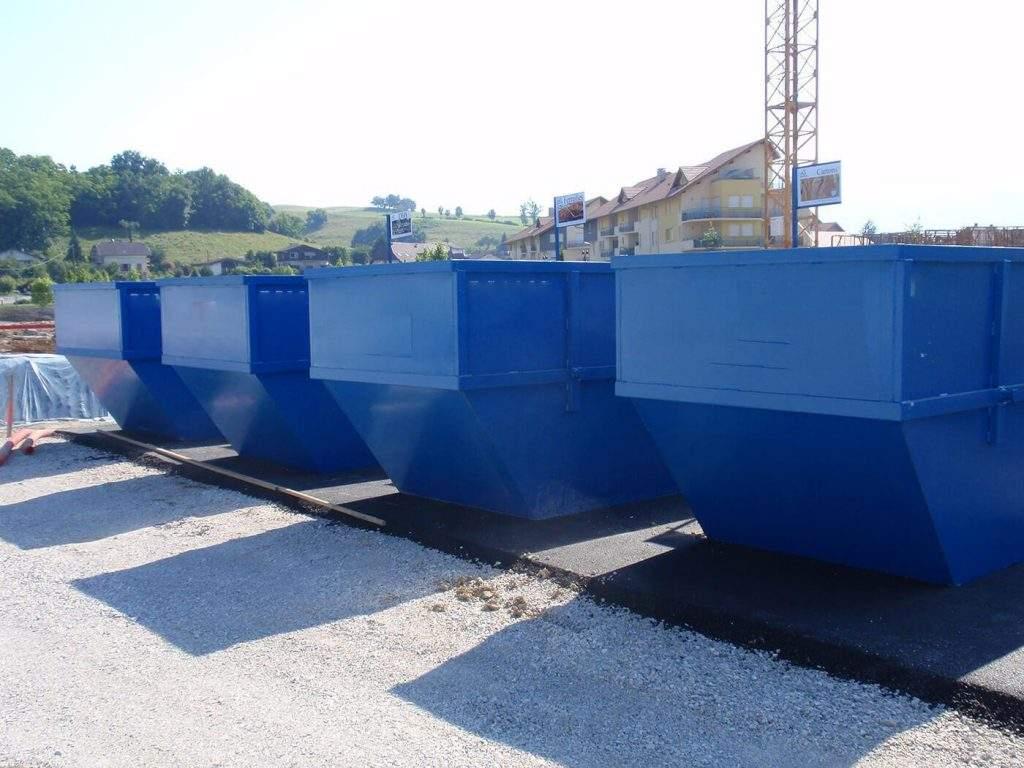 mc metal recyclacge pose de bennes qur chantier